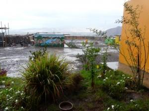 Le centre après la pluie...